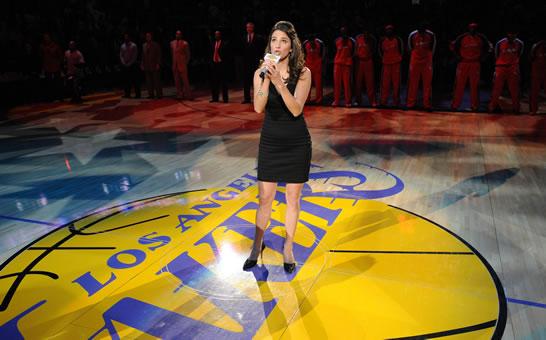 Alumnus Sings National Anthem At Lakers Game Biola University